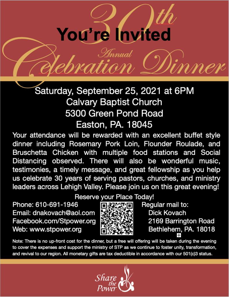STP 30th Annual Fundraiser Dinner Celebration