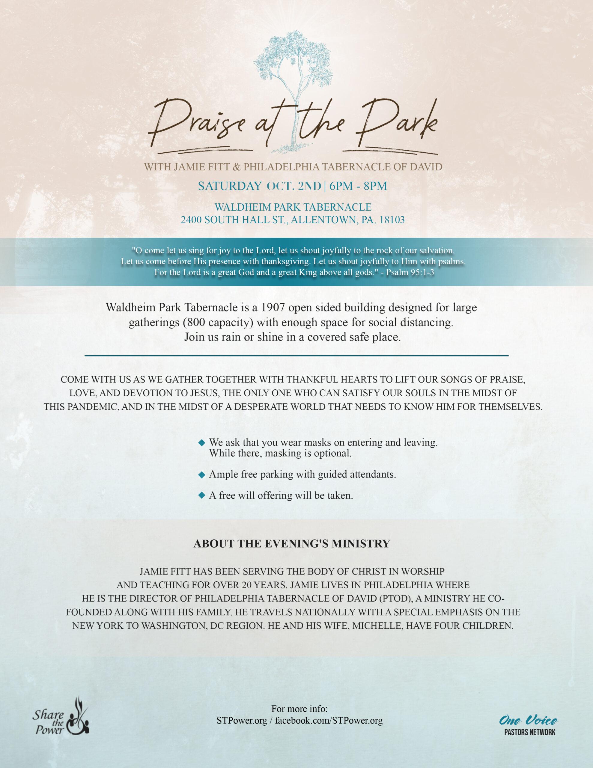 PRAISE at the PARK